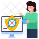 Cybersecurity Online Ai Security Ai Protection Icon