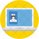 Laptop Hospital Online Icon