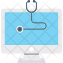 Online Aid Medical Stethoscope Icon