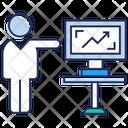 Statistics Chart Analysis Online Business Analysis Icon