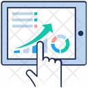 Pie Graph Chart Analysis Online Business Analysis Icon