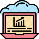 Cloud Graph Statistic Icon