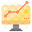 Online Profit Online Analysis Web Analytics Icon
