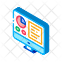 Analytics Computer Screen Icon
