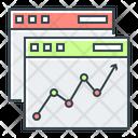 Online Analysis Stock Market Analysis Icon
