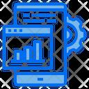 Website Mobile Graph Icon