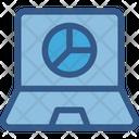 Analytics Laptop Pie Graph Icon