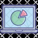 Laptop Analysis Pie Chart Icon