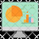Online Analysis Online Graph Computer Icon