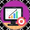 Business Goal Online Analytics Online Analysis Icon