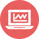 Online Analysis Laptop With Graph Business Growth Icon