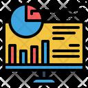Chart Analytics Monitoring Career Growth Icon