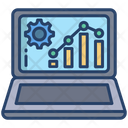 Online Analytic Report Growth Report Graph Analysis Icon