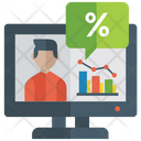 Online Analytics Chart Business Graph Icon