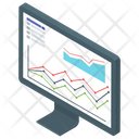 Statistics Online Analytics Business Monitoring Icon