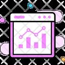 Trend Chart Online Trend Analysis Statistical Presentation Icon