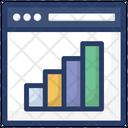 Online Analytics Trend Analysis Graphical Analysis Icon