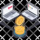 Online Analytics Bitcoin Statistics Data Analytics Icon