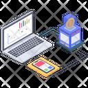 Online Analytics Online Statistics Bitcoin Data Analytics Icon