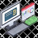 Online Analytics Bitcoin Statistics Web Analytics Icon