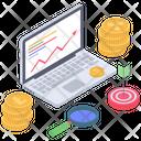 Online Analytics Online Statistics Crypto Data Analysis Icon