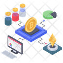 Online Analytics Online Statistics Crypto Data Analytics Icon