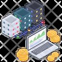 Online Analytics Online Statistics Data Analytics Icon