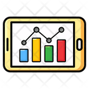 Online Analytics Online Graph Relative Frequency Icon