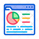 Online Statistician Analysis Icon