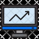 Computer Graph Analytics Icon