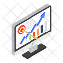Online Analytics Growth Chart Statistical Analysis Icon