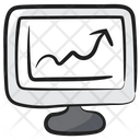 Online Analytics Growth Chart Business Growth Icon