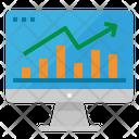 Statistics Monitor Computer Icon