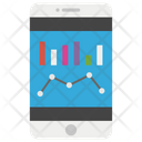 Online Analytics Financial Graph Graph Analysis Icon