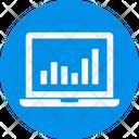 Stats Graph Laptop Icon