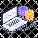 Data Display Online Analytics Server Storage Icon