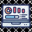 Online Analytics Online Report Online Analysis Icon