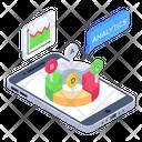 Online Analytics Online Infographics Mobile Analytics Icon
