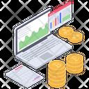 Online Analytics Online Statistics Icon
