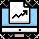 Online Analytics Report Online Analytics Computer Icon
