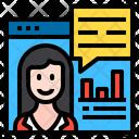 Online Analyzer Website Female Icon