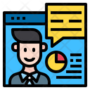 Online Analyzer Website Man Icon