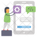 Online App Design Icon