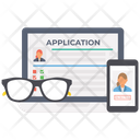 Online Application Online Registration Job Application Icon
