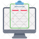 Online Application Form Online Registration Job Application Icon