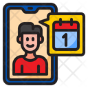 Online Appointment Online Date Date Icon