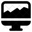 Online Area Chart Icon