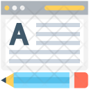 Online Article Writing Icon