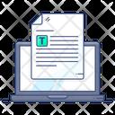 Online Assignment Online Work Online Task Icon