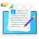Online Assignment Online File Onpage Writing Icon